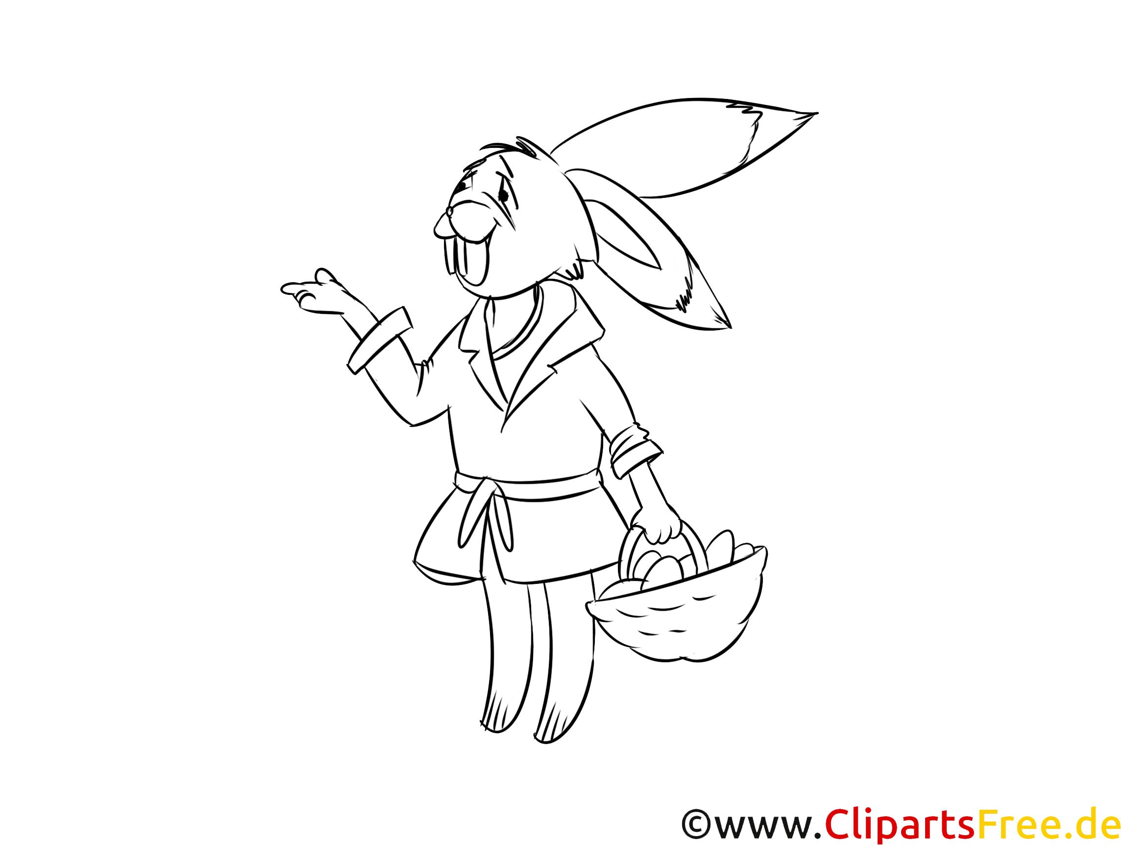 Osterhase, Kaninchen, Hase Ausmalbild