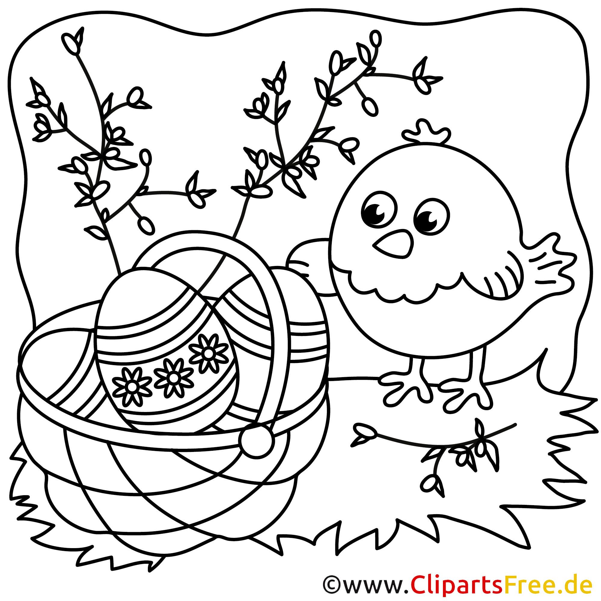 Ostern Malvorlage - Malen und Basteln im Fruehling