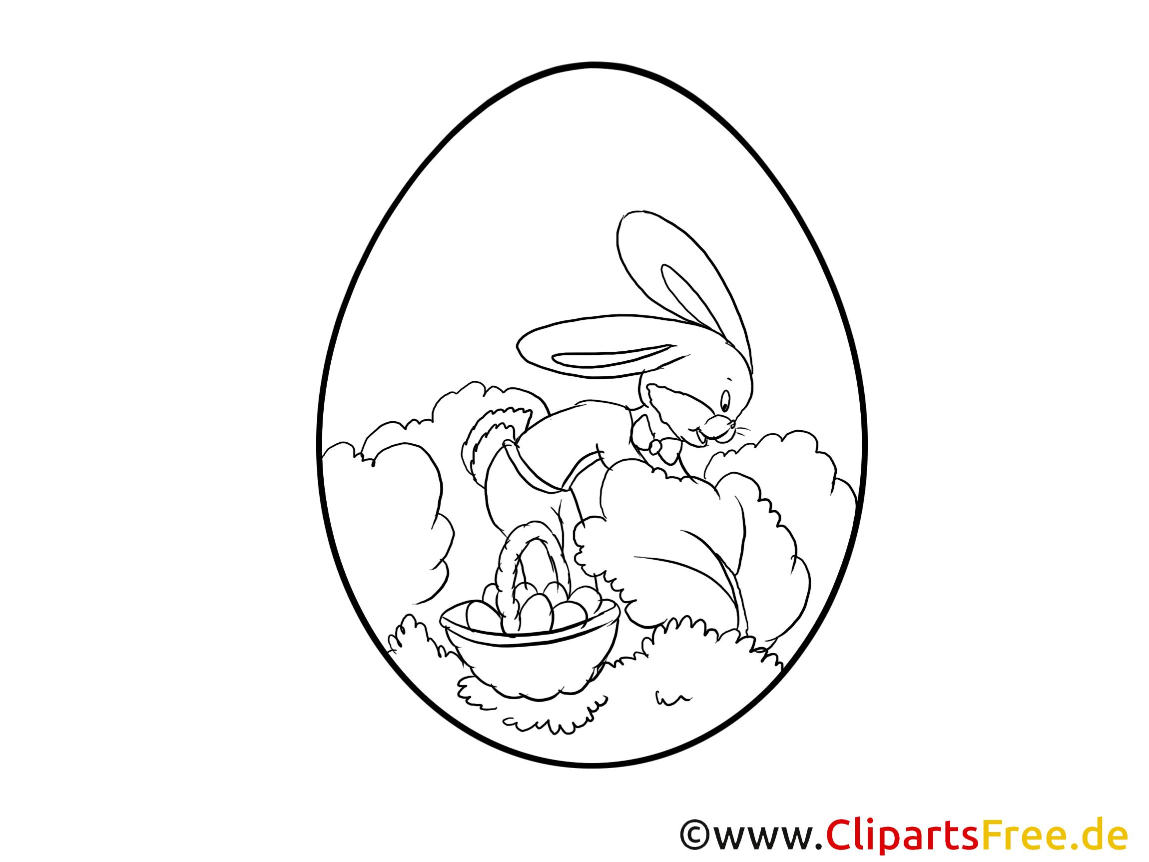 Ostern Malvorlage kostenlos im PDF-Format