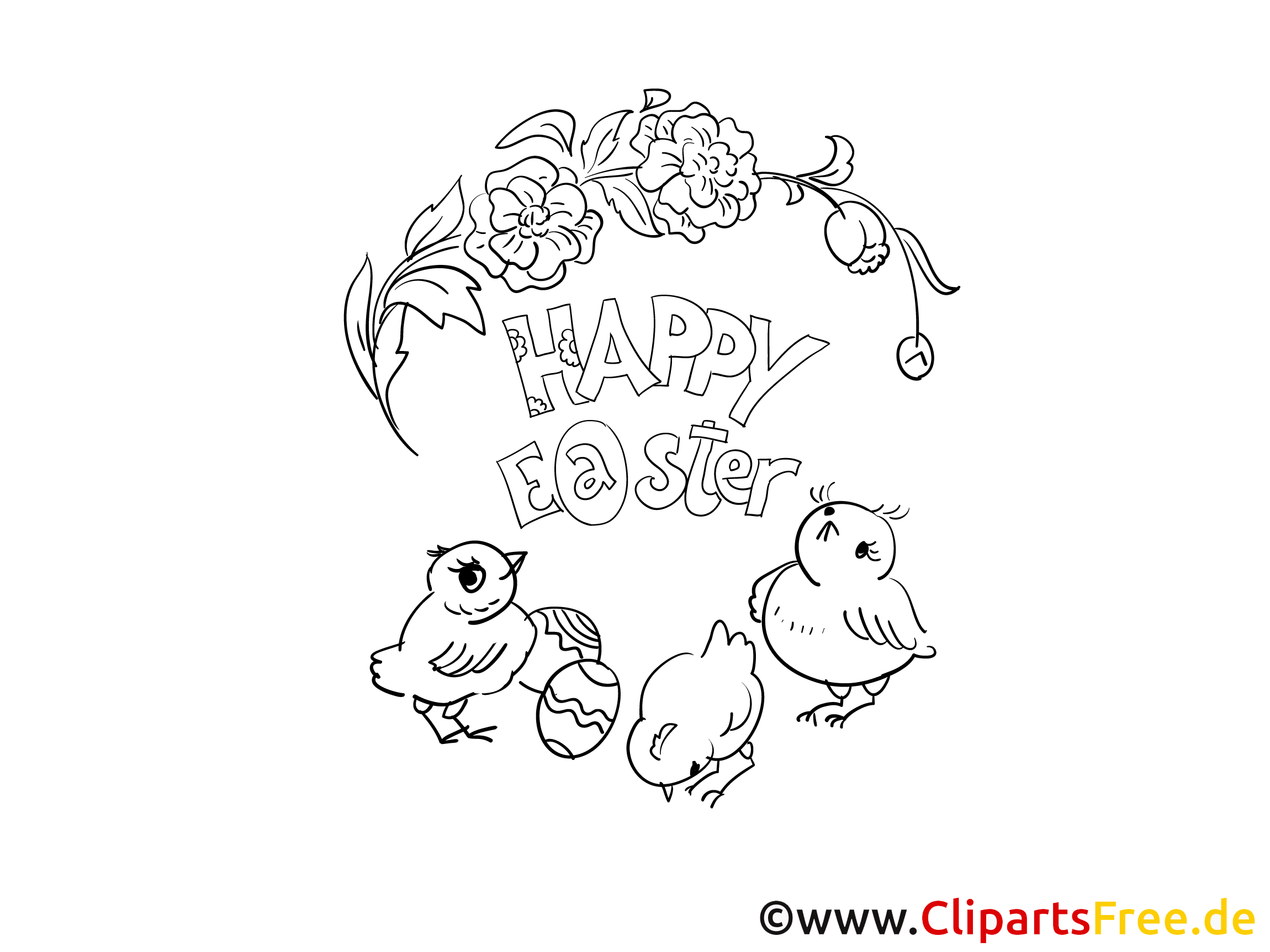 Printable Coloring Page PDF to Easter