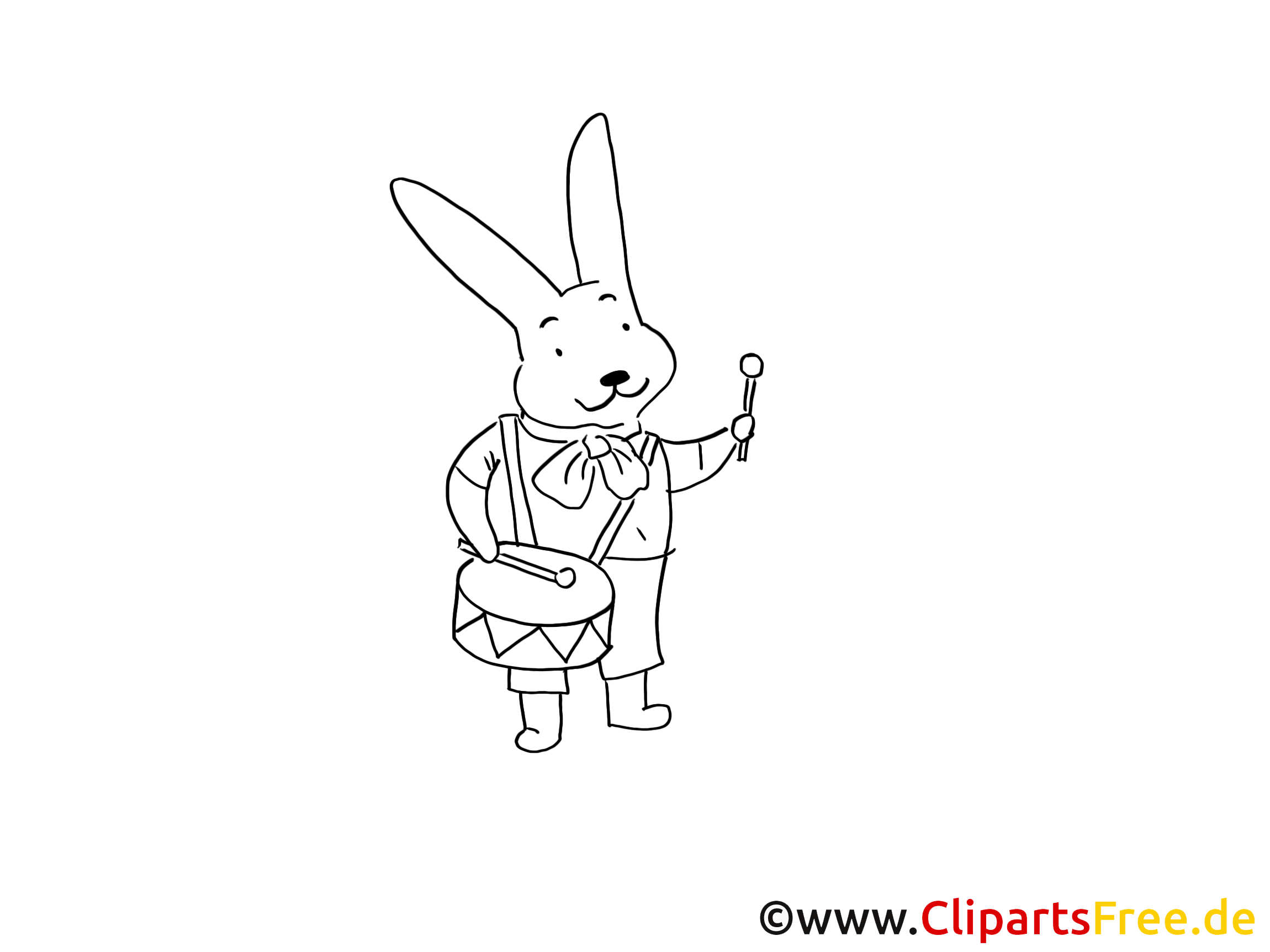 Rabbit Eastern Coloring Page PDF