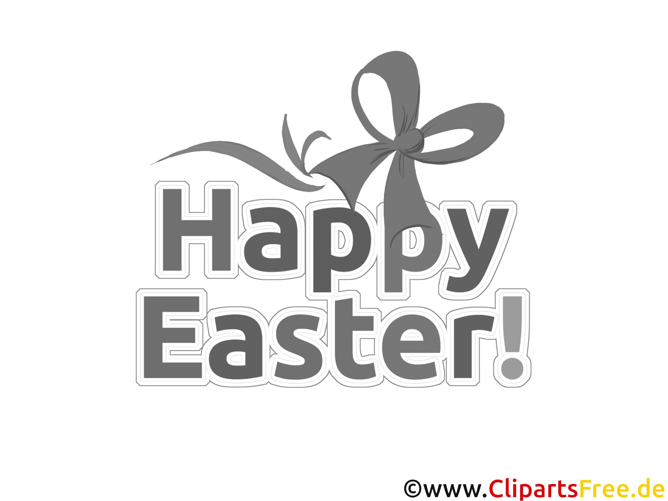 Schleife Happy Easter coloring page