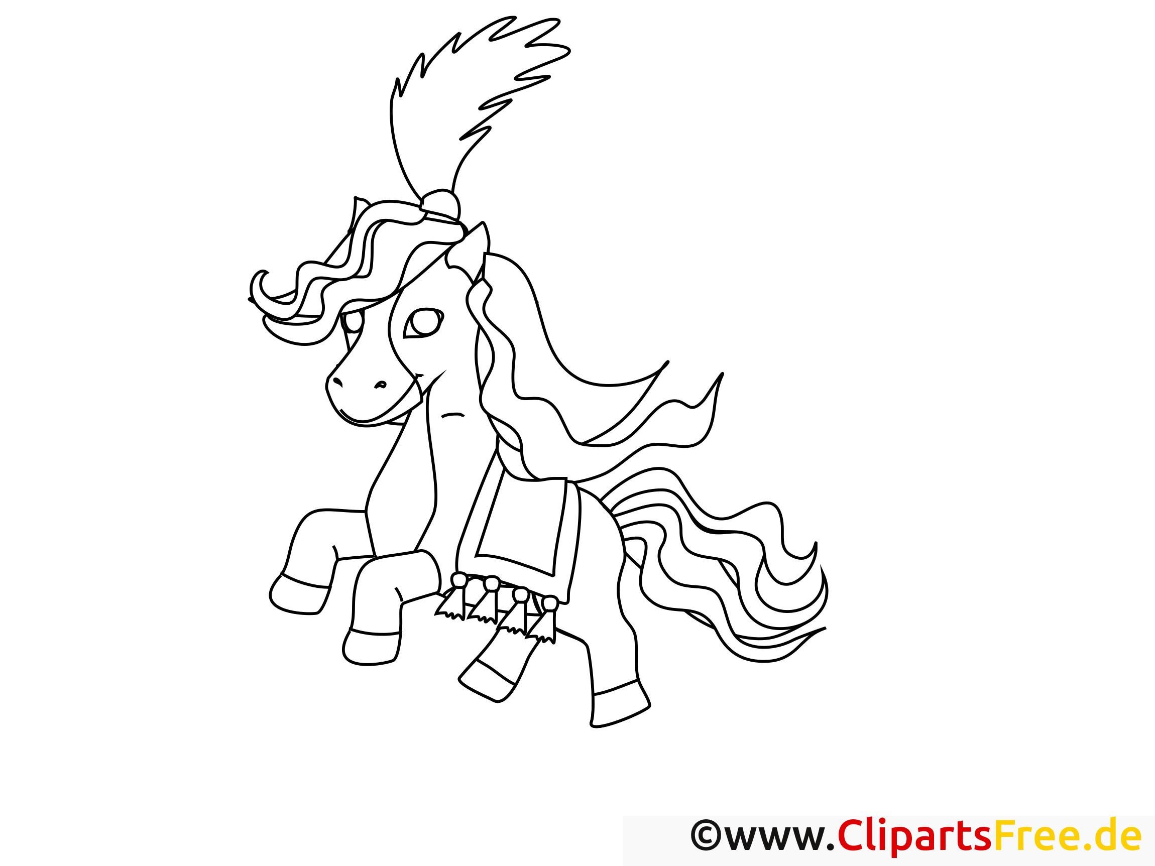 ausmalbild pferd pony