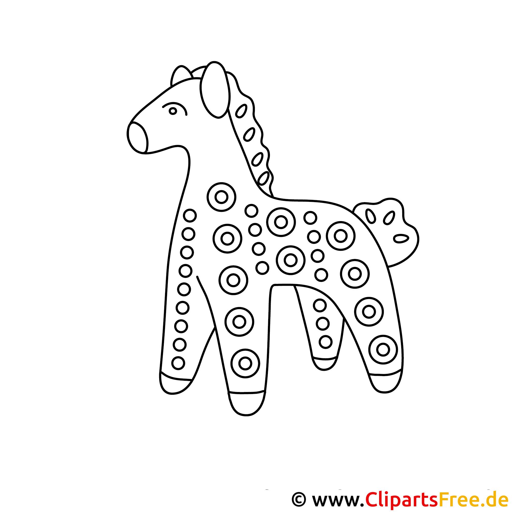 bild zum malen kostenlos pferd