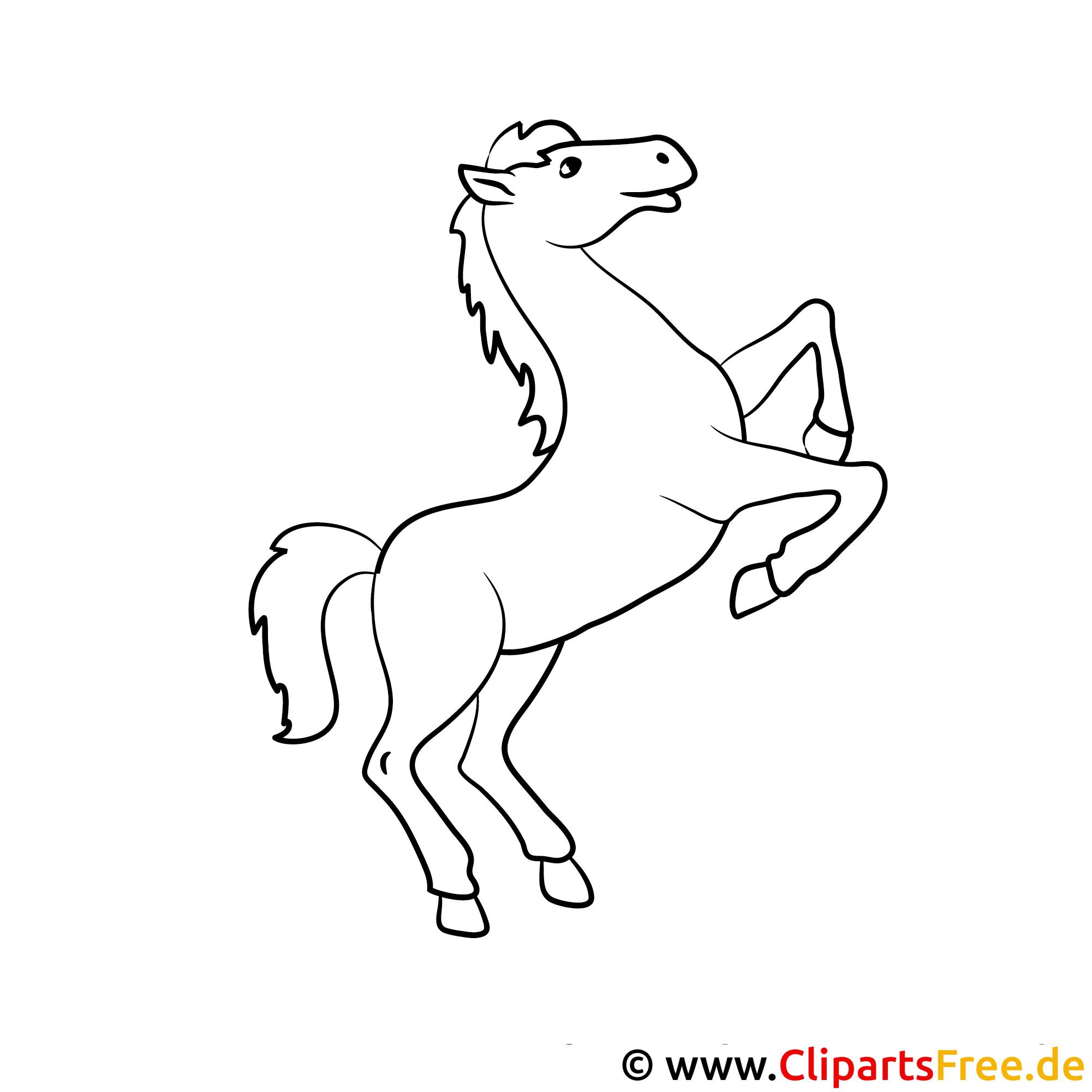 pferd auf zwei beinen ausmalbild kostenlos