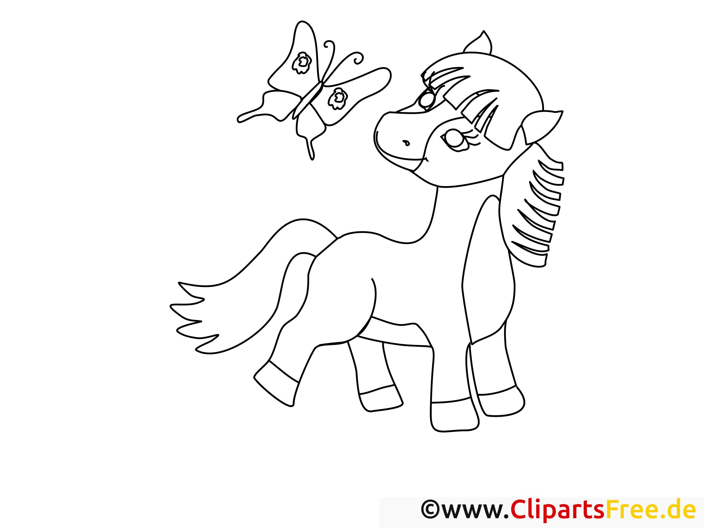 pferd ausmalen und ausdrucken