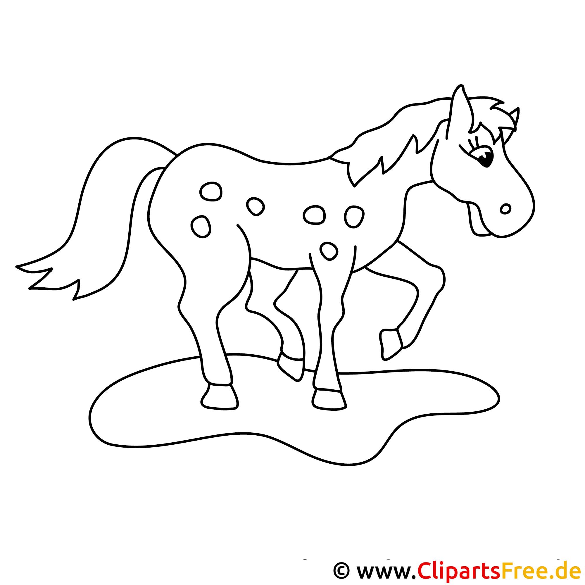 Pferd Bild zum Malen kostenlos