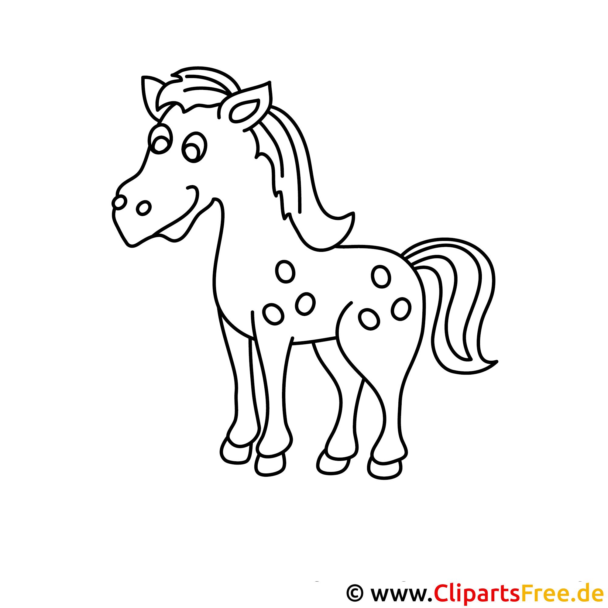 pferd cartoon malvorlage kostenlos
