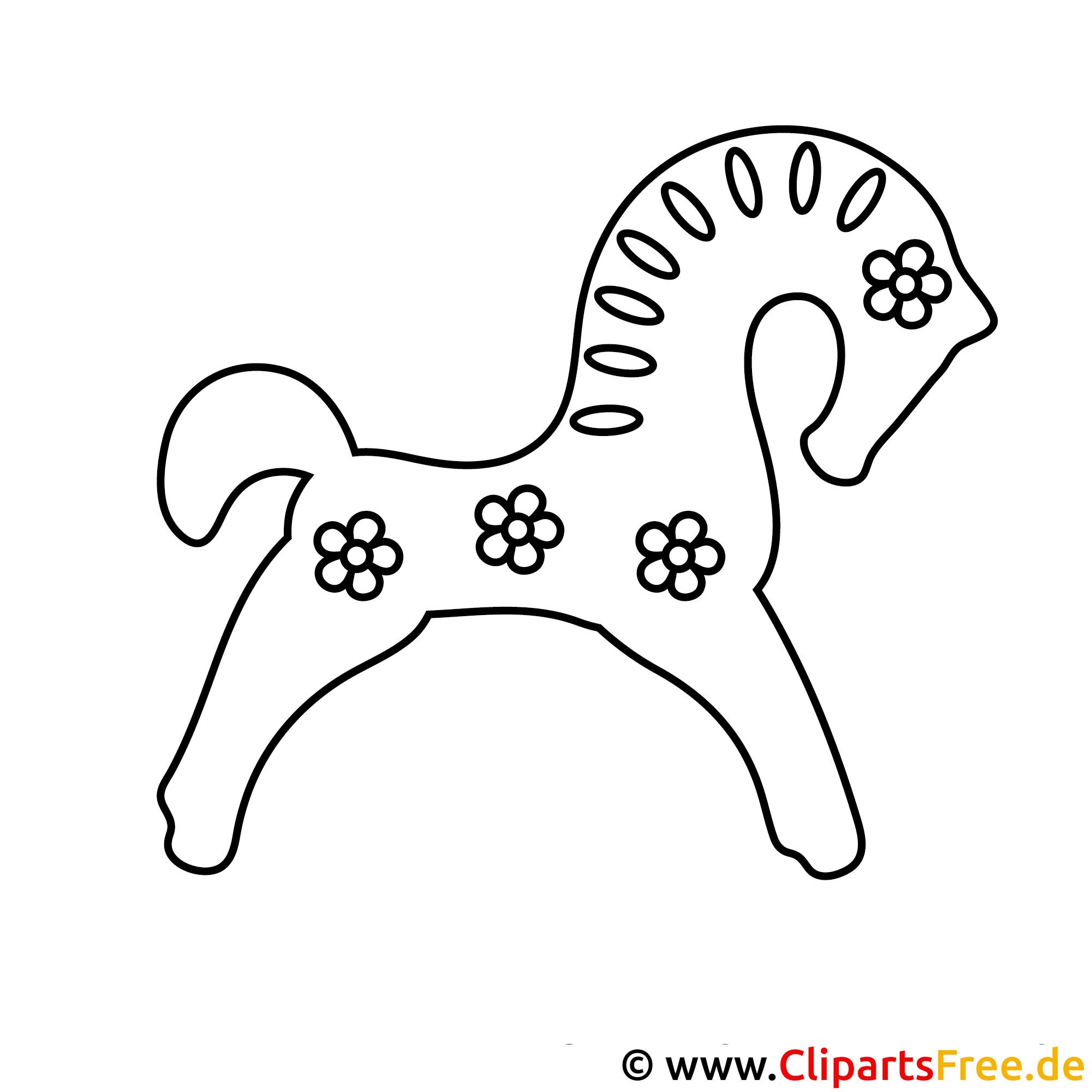 pferd mit blumen malvorlage kostenlos