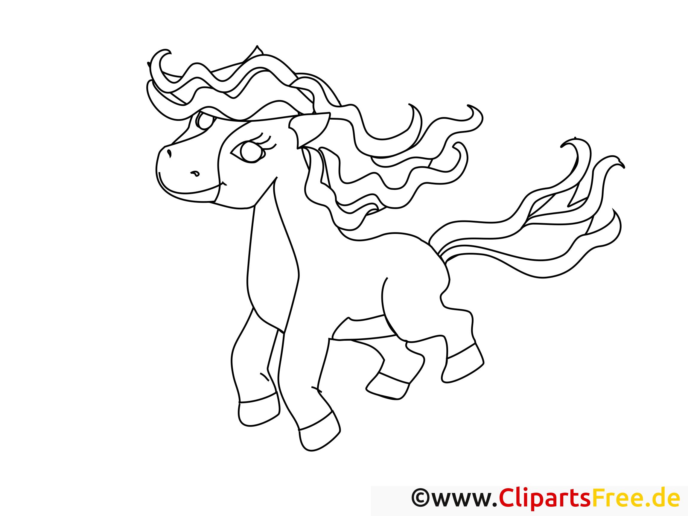 pferd zum ausmalen kostenlos
