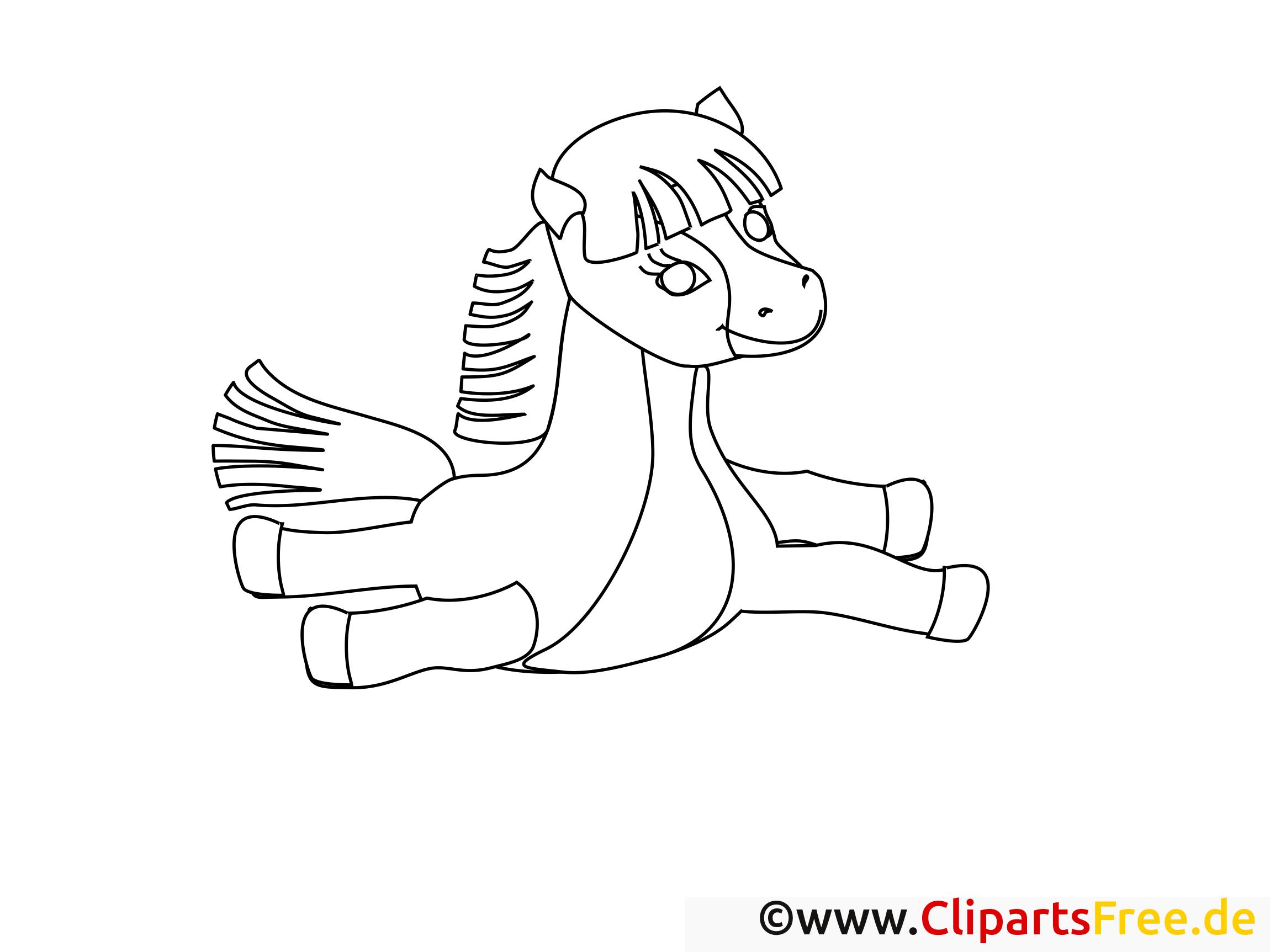 pferde und pony motiven ausmalbilder gratis