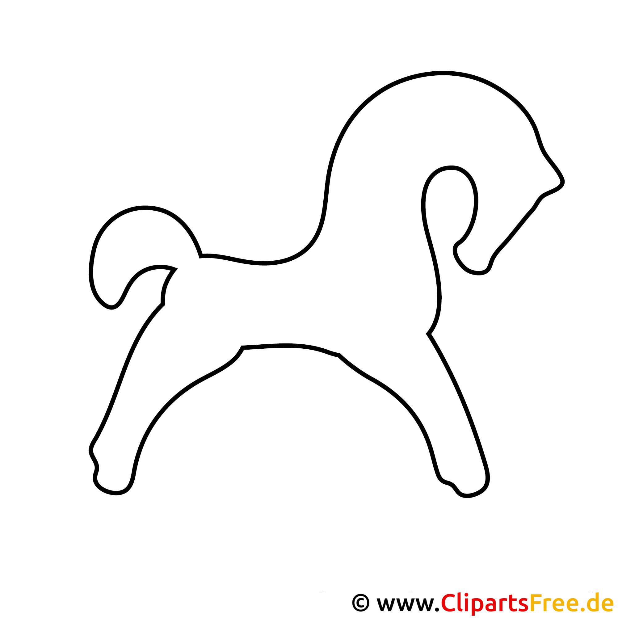 silhouette pferd  bilder zum ausmalen