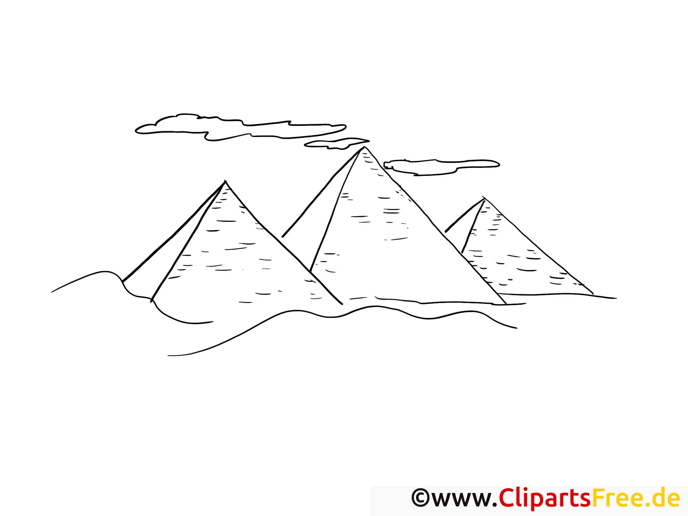 Ägypten Pyramiden Malvorlagen