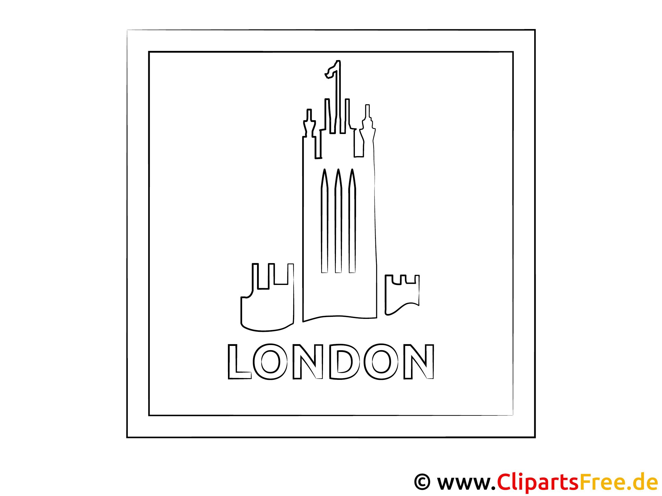 London England Malvorlage