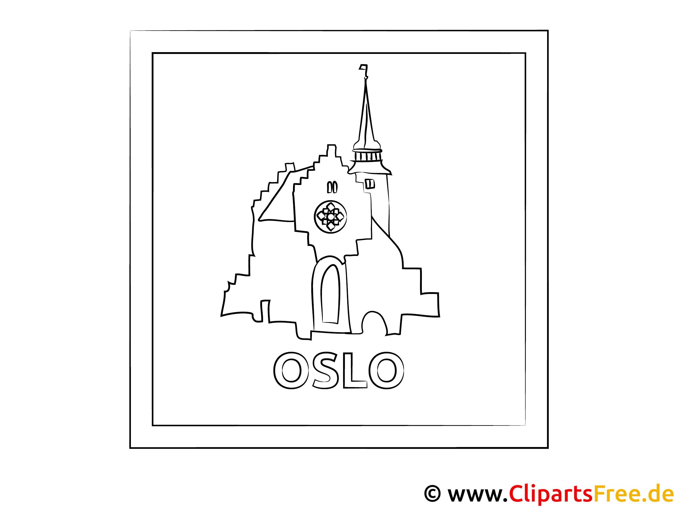 Oslo Norwegen Ausmalbild