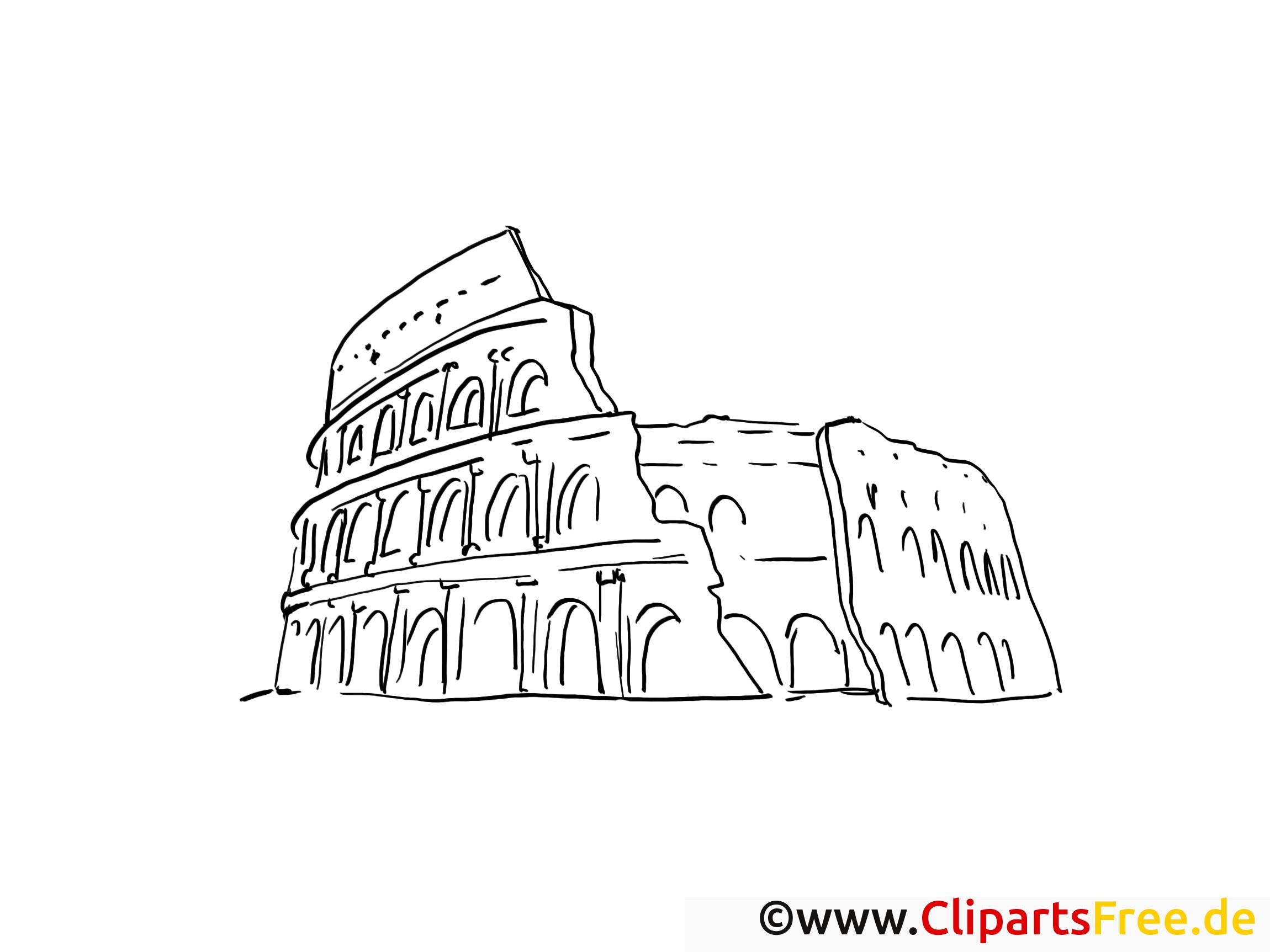 Rom Kolosseum Malvorlage