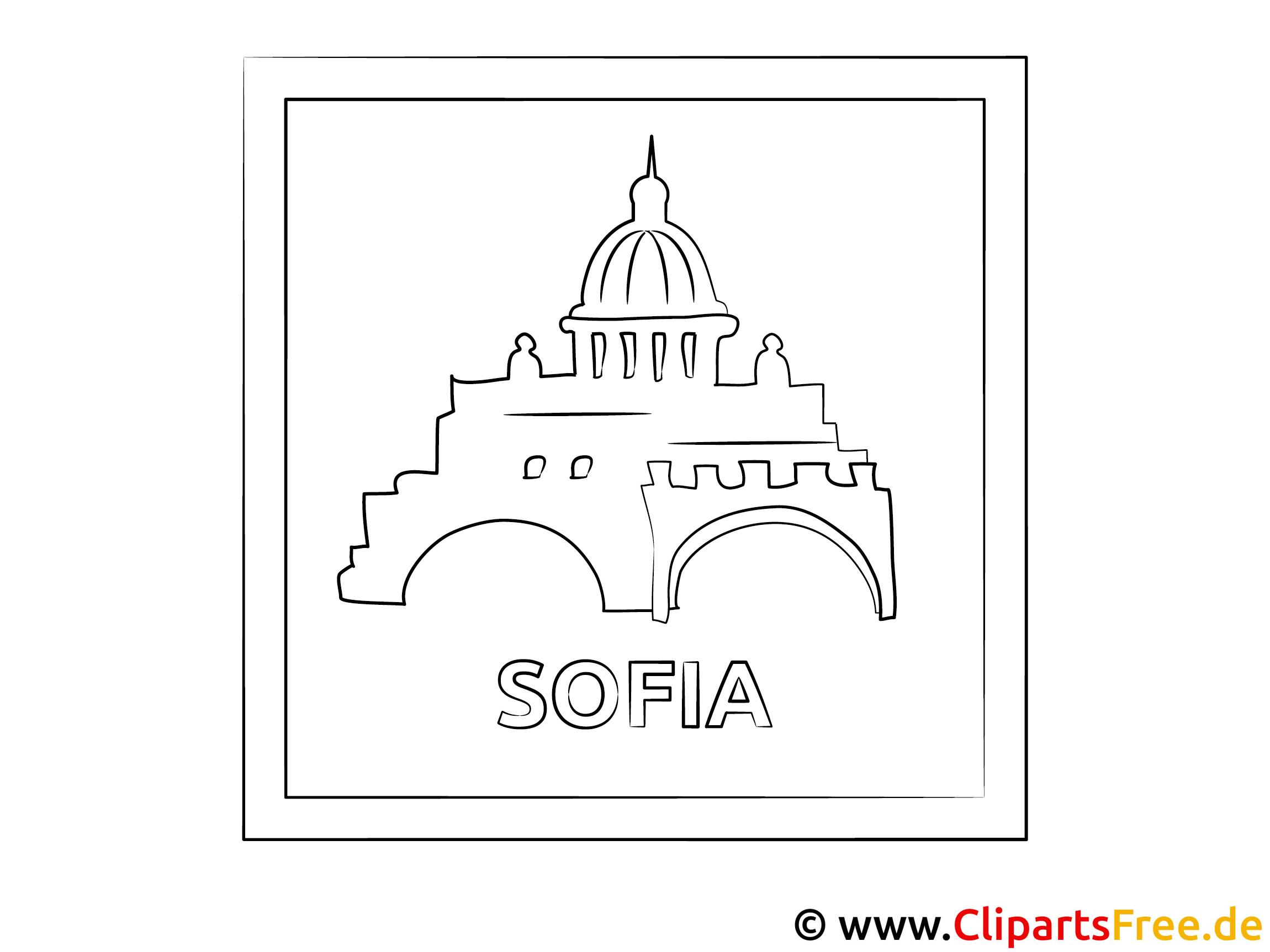 Sofia Bulgarien Reisen Ausmalbild