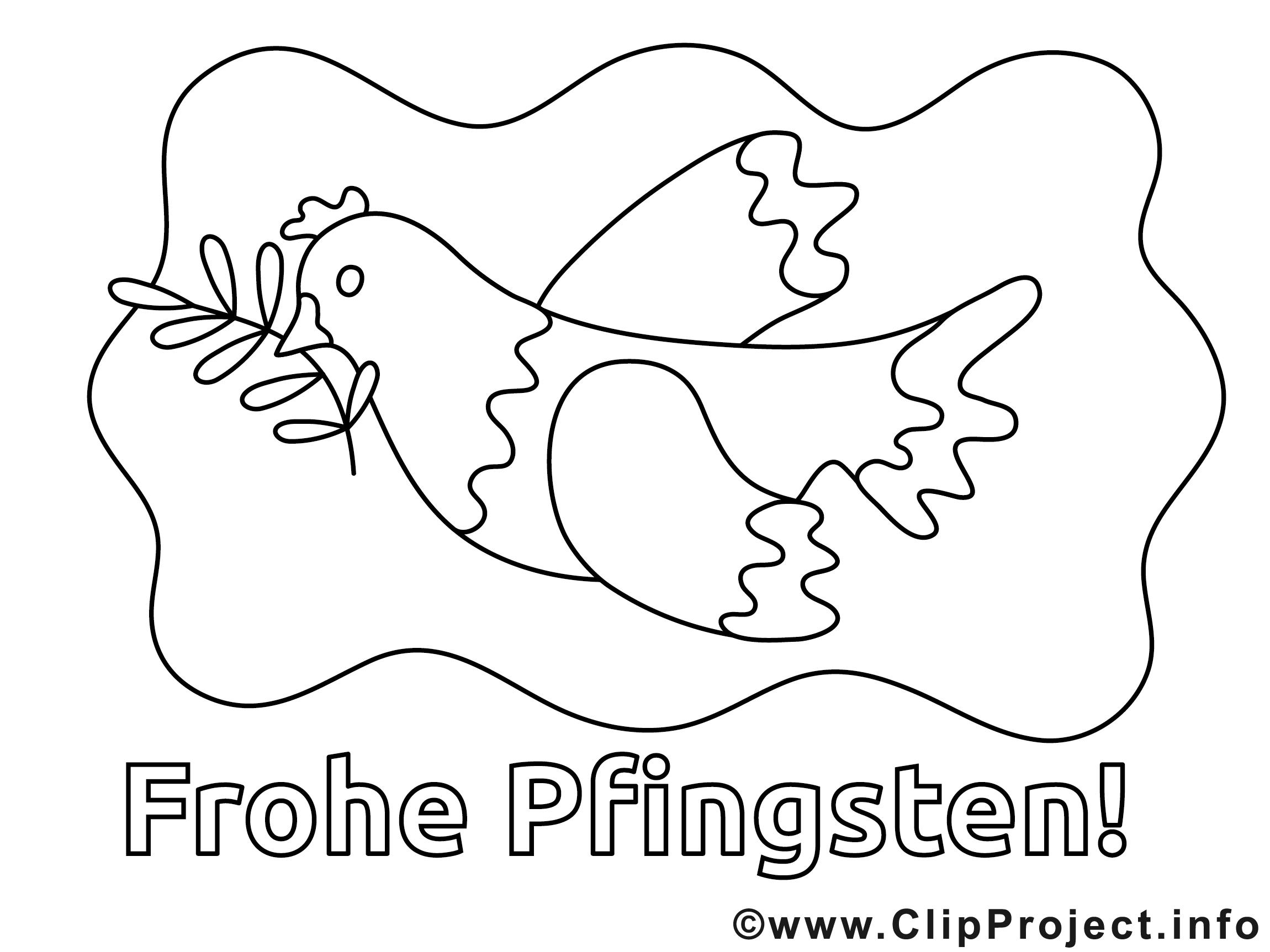 Frohe Pfingsten Ausmalbilder für Kinder kostenlos ausdrucken