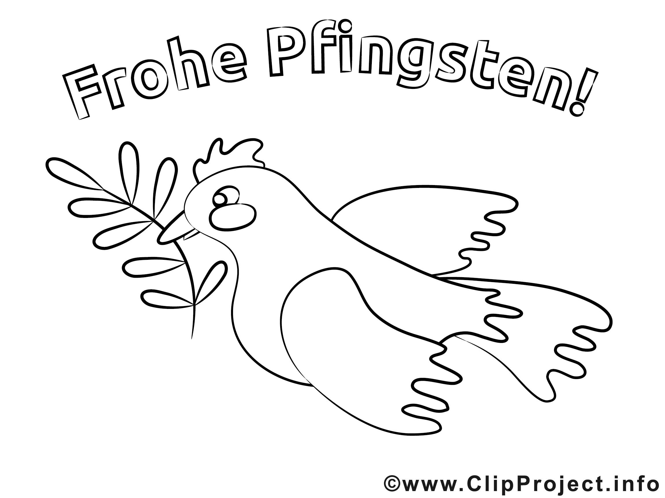 Frohe Pfingsten Malvorlage gratis