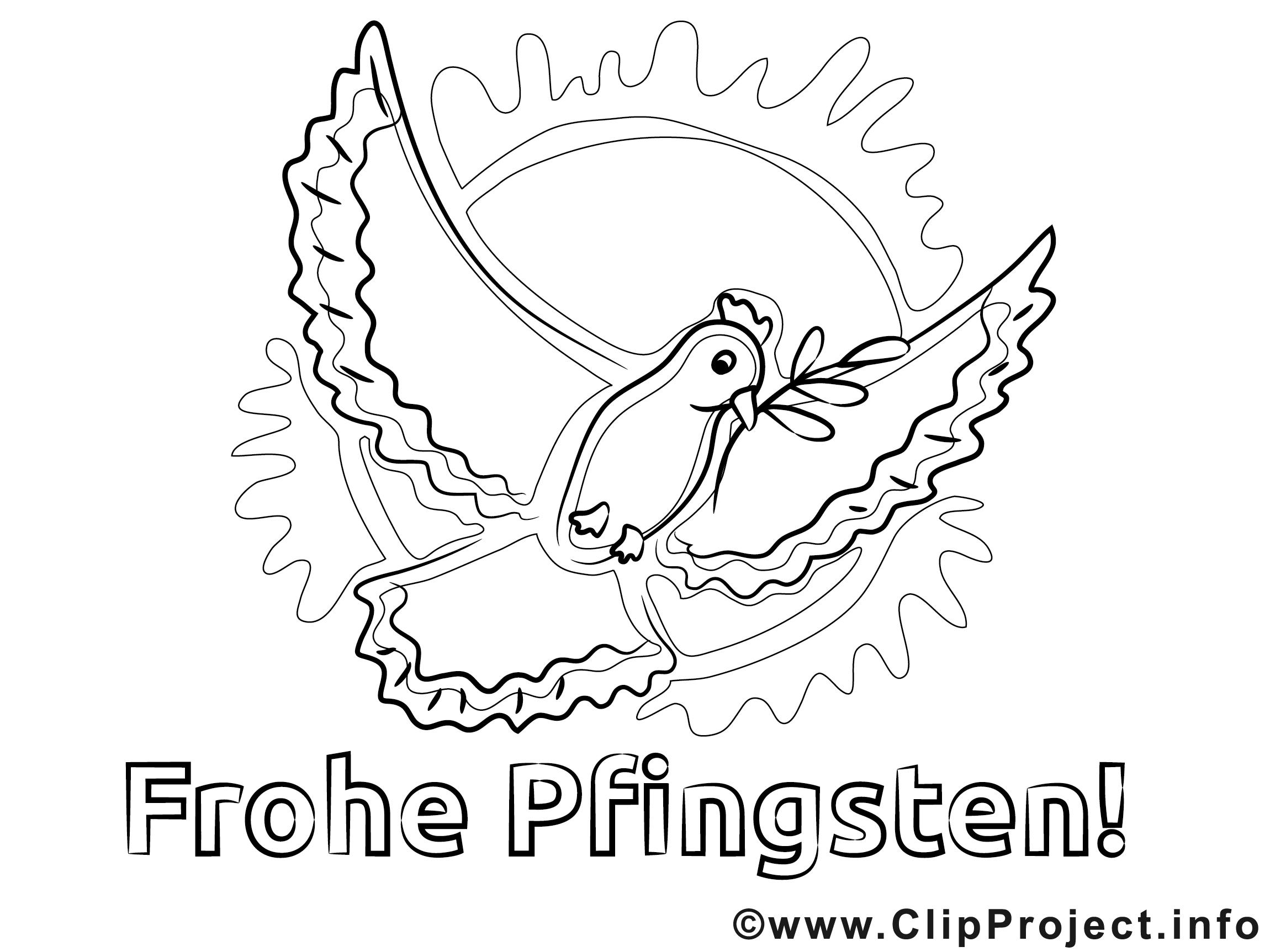 Pfingstfest Bild zum Ausmalen