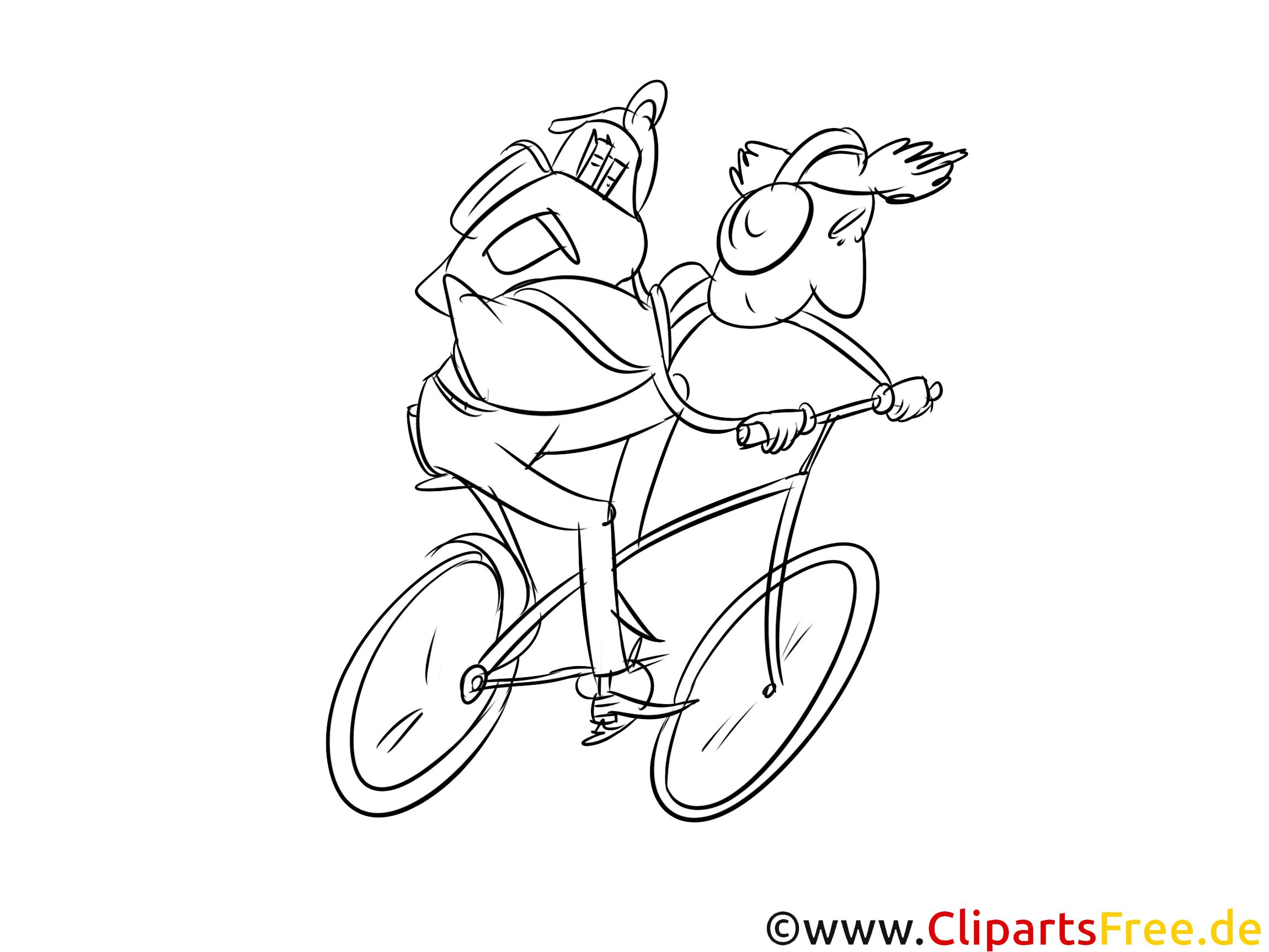 ausmalvorlage fahrrad fahrradfahrer