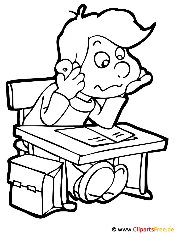 schüler liest buch  schule malvorlagen