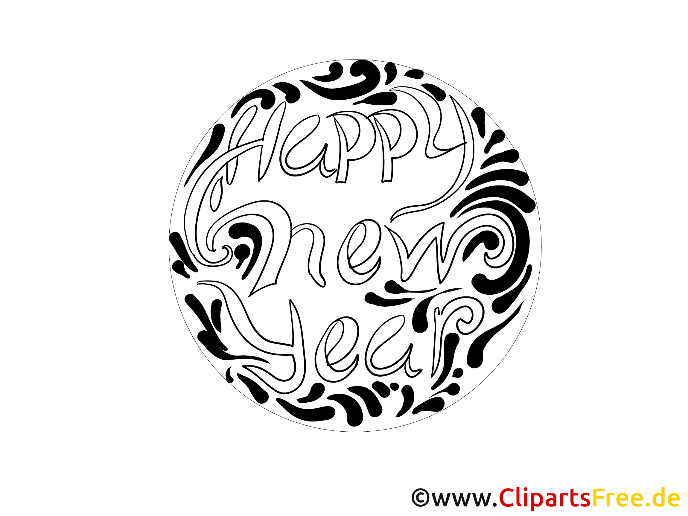 happy new year mandala