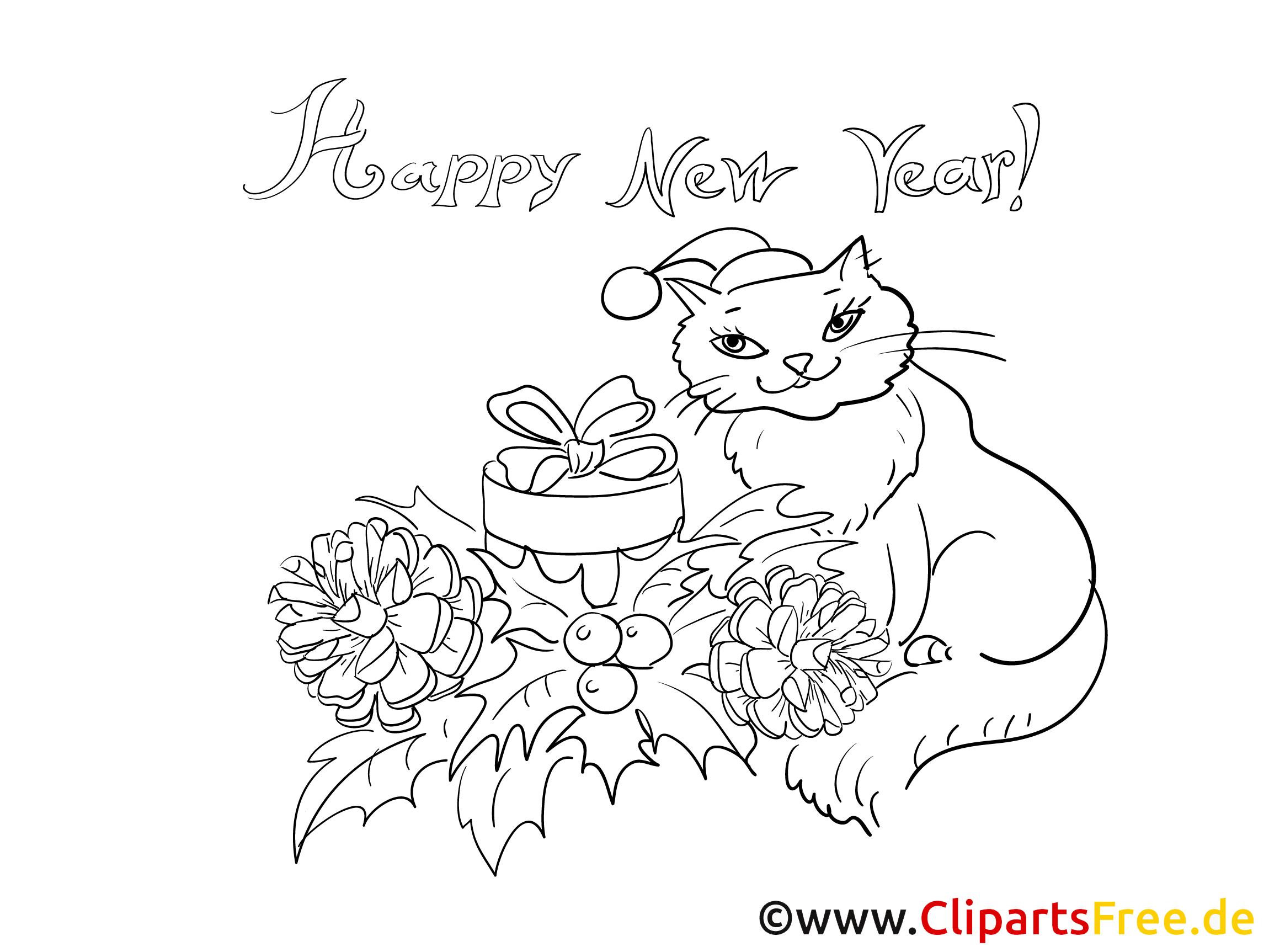 malvorlagen neujahr gratis  kostenlose malvorlagen ideen