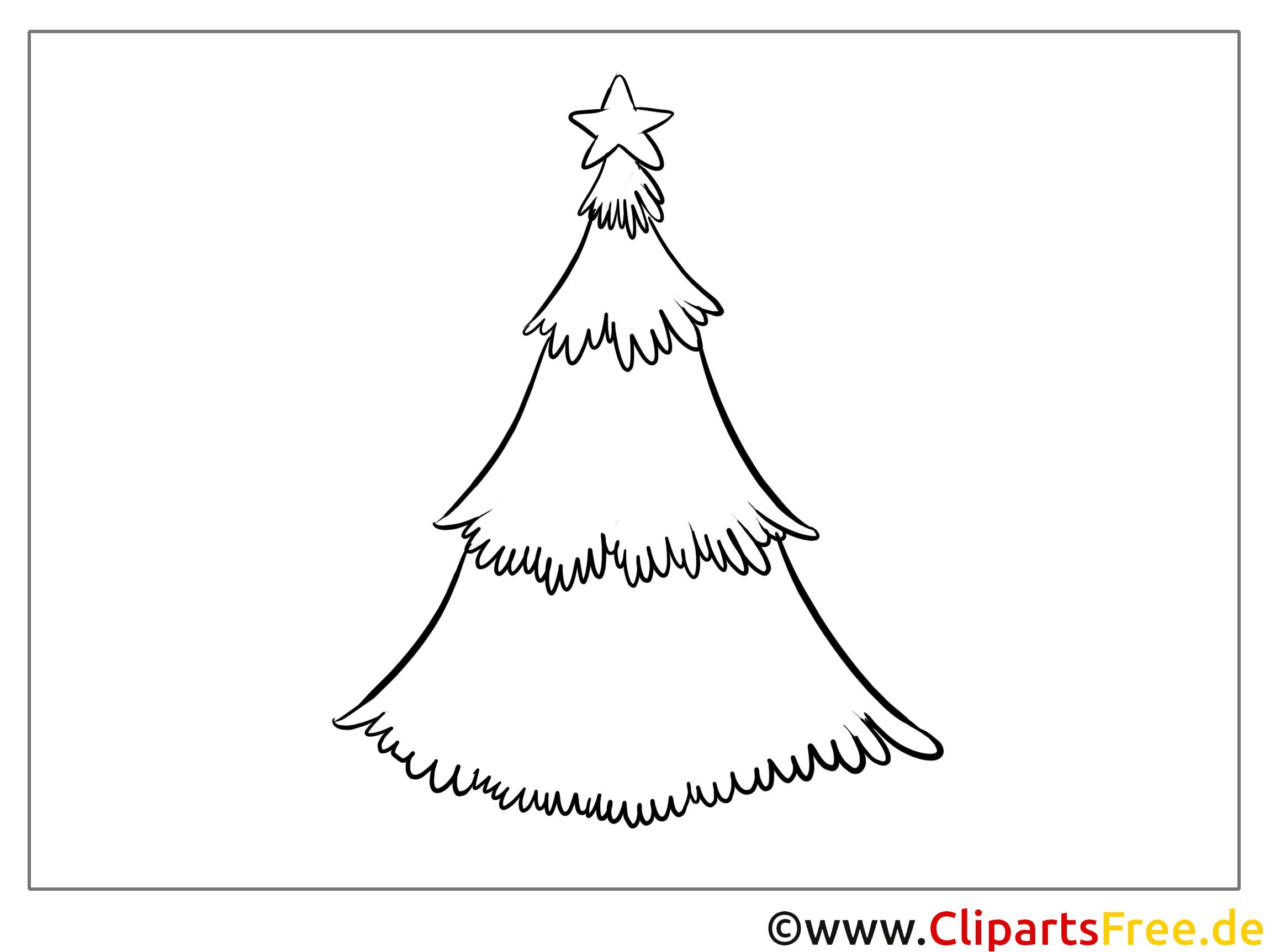stern tannenbaum neujahr bilder zum malen