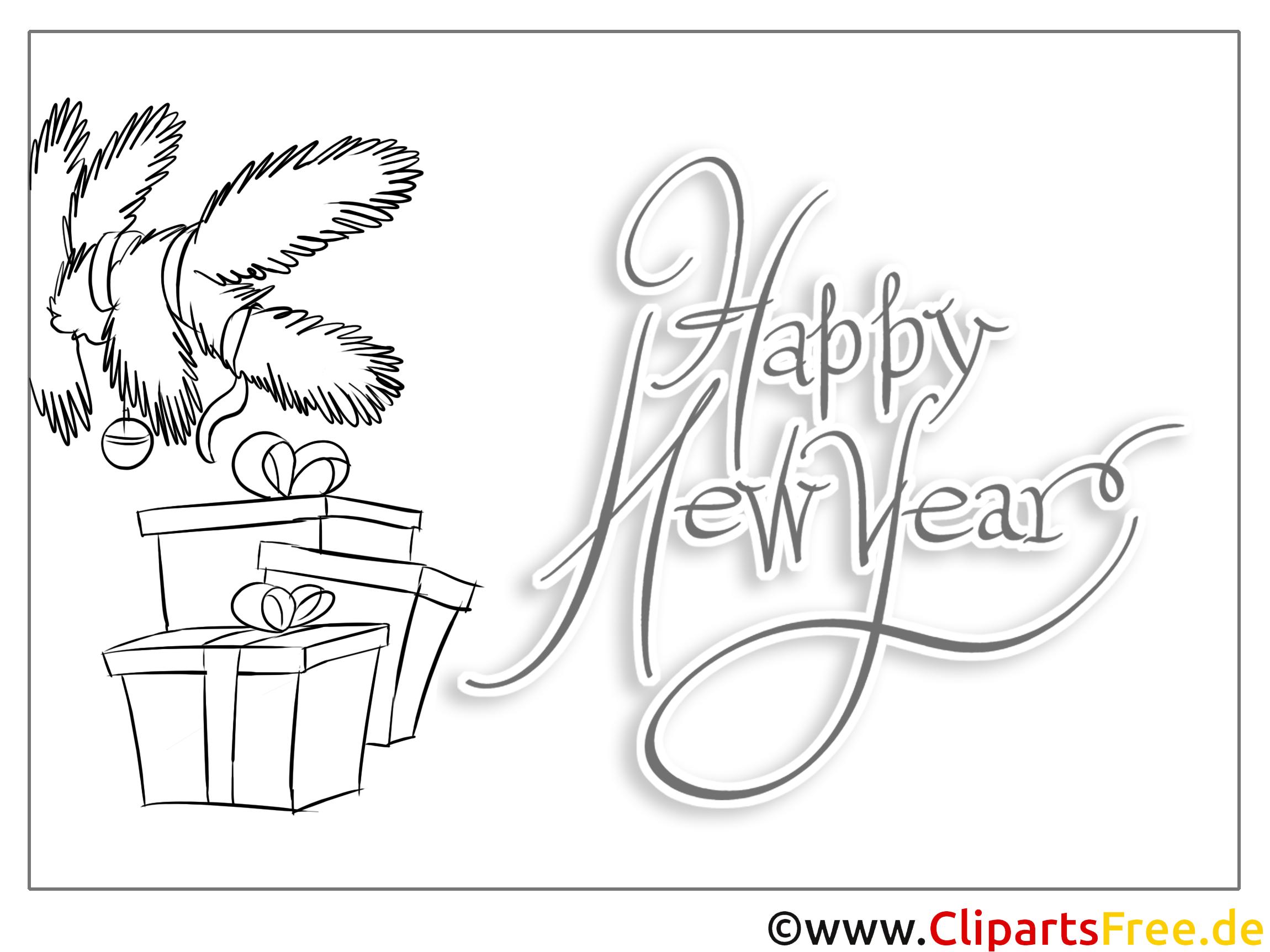 tannenbaum geschenk happy new year coloring malvorlage