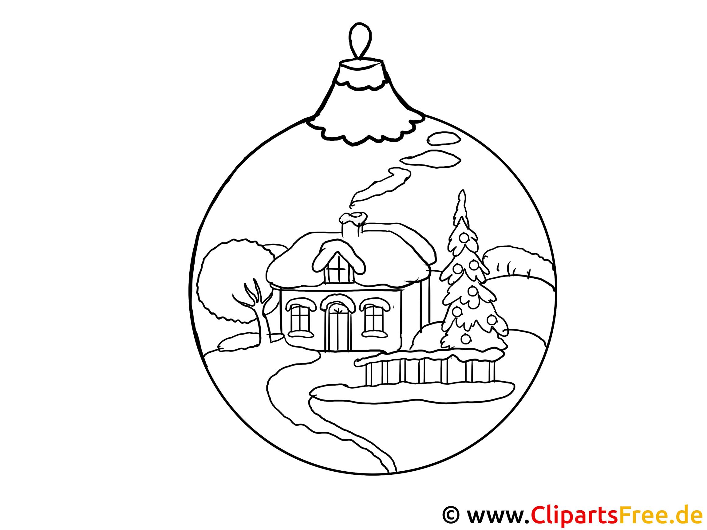 vorlage zum malen  kugel für weihnachtsbaum
