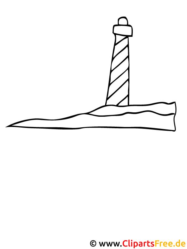 leuchtturm bild zum ausmalen kostenlos