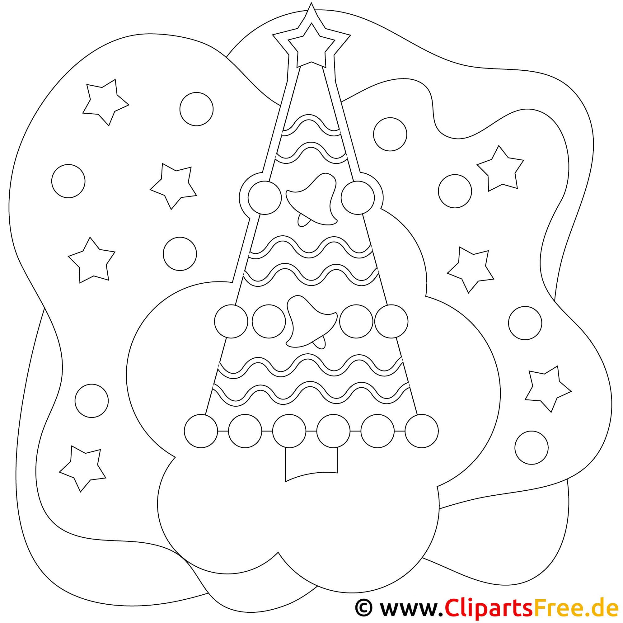 Bild zum Malen Weihnachsbaum