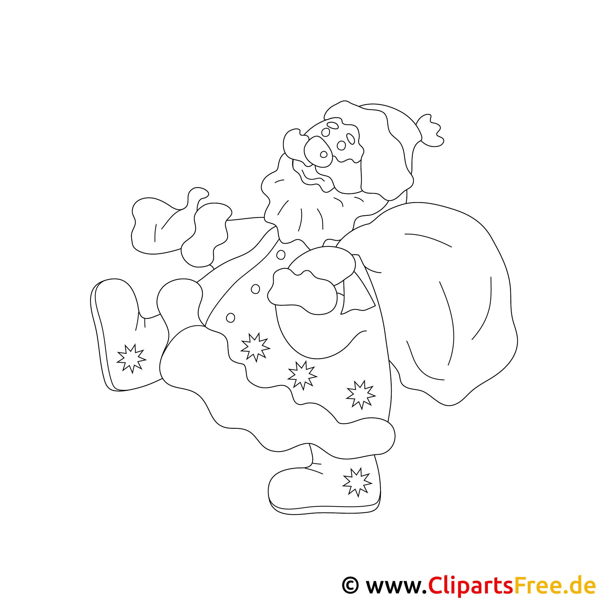 weihnachtsmann malvorlage zum ausmalen für kinder