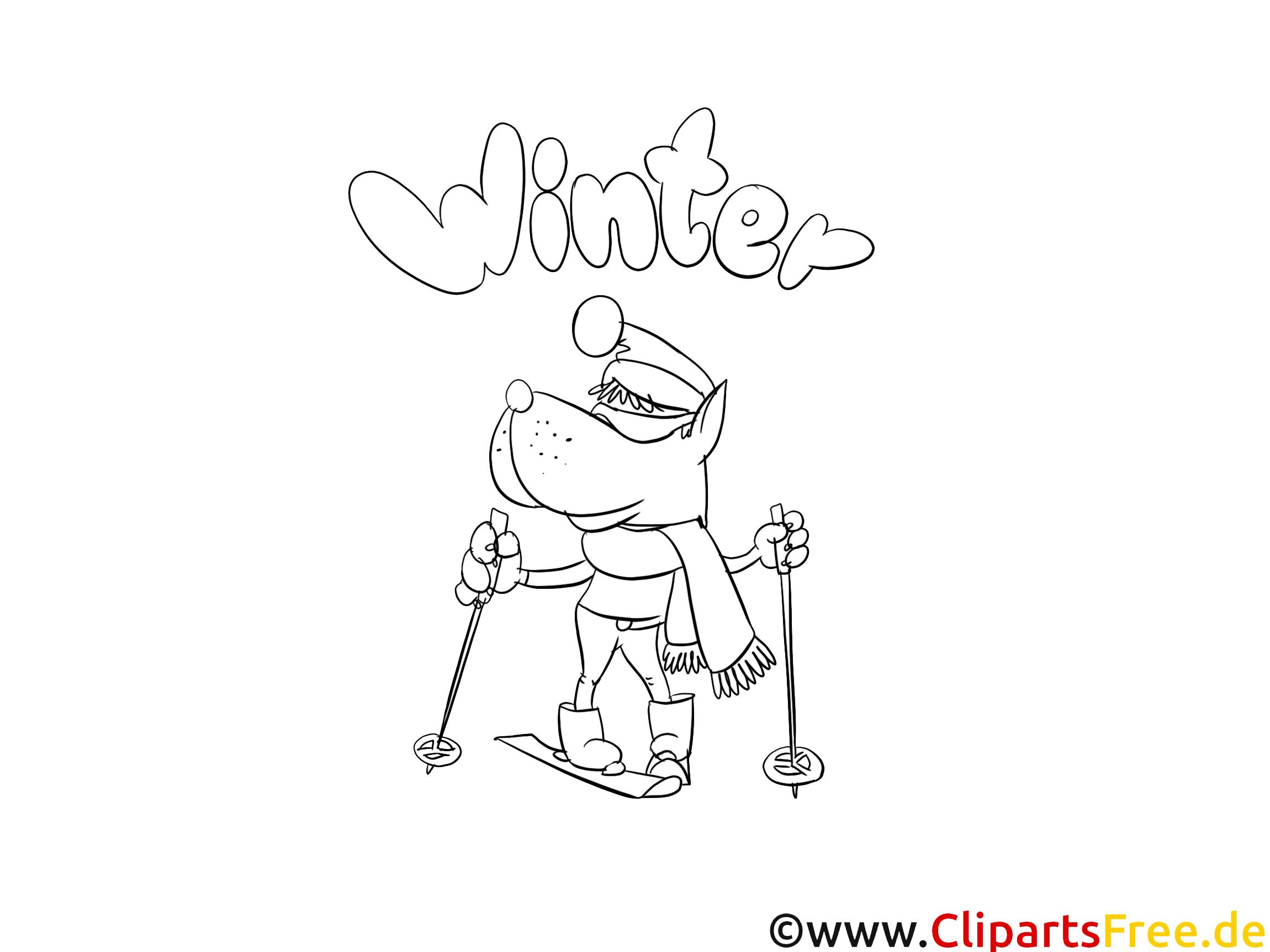 malvorlage winter im pdfformat
