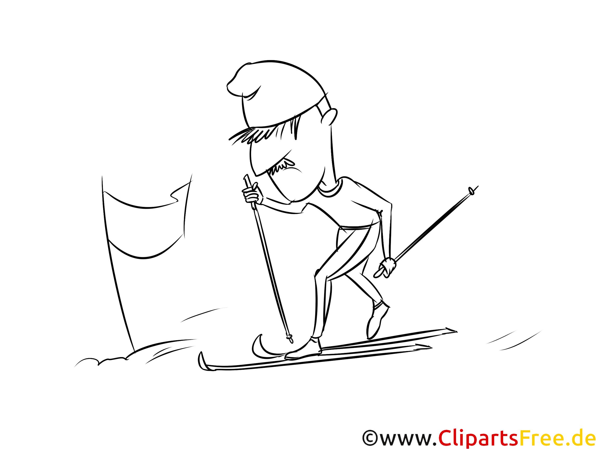 ski urlaub winter sport ausmalbild kostenlos