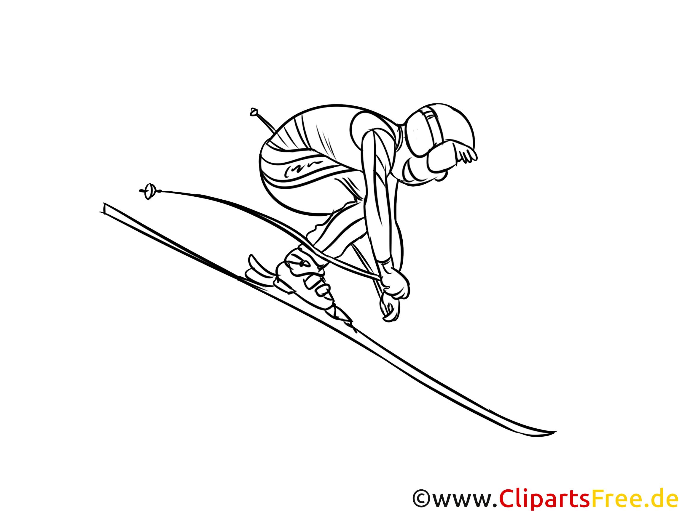 wintersportarten skilauf kindergarten malvorlagen