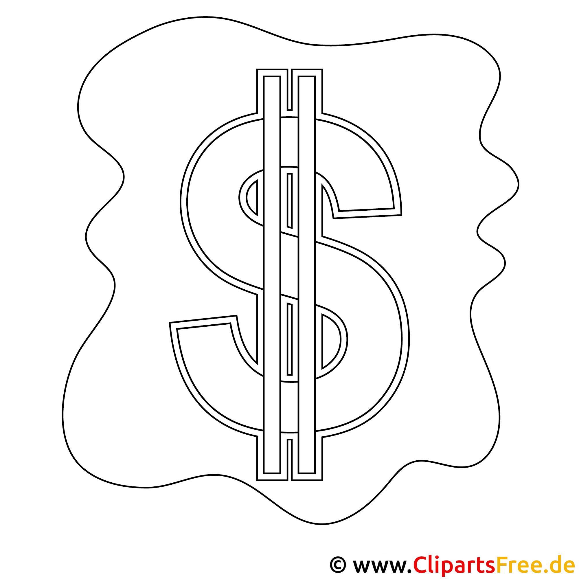 malvorlage dollarzeichen  coloring and malvorlagan