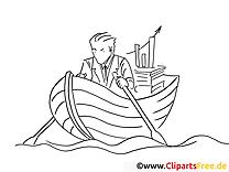Boot mit Padeln Malvorlage zum Ausmalen