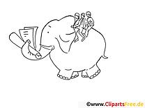 Elefant reiten Coloring Book
