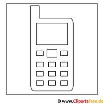 Handy Bild zum Ausmalen, Malvorlage, Ausmalbild