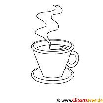 Kaffeetasse Bild zum Ausmalen, Malvorlage, Ausmalbild