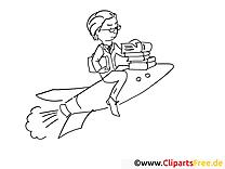 Rakete Malvorlage  zum Ausmalen