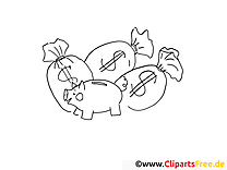 Savings Coloring Page Office Work
