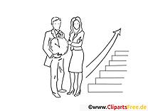 Schwarz-weiss Clipart-Bilder zum Drucken und Ausmalen - Zeit ist Geld