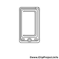 Smartphone Bild zum Ausmalen, Malvorlage