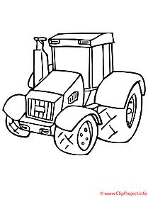 Traktor Malvorlagen fuer Kinder kostenlos