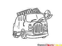 Einsatzwagen Feuerwehr Bild, Ausmalbild