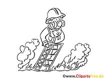 Feuerwehr Training Malvorlage