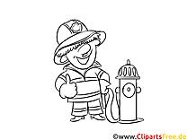 Malvorlagen Feuerwehr kostenlos